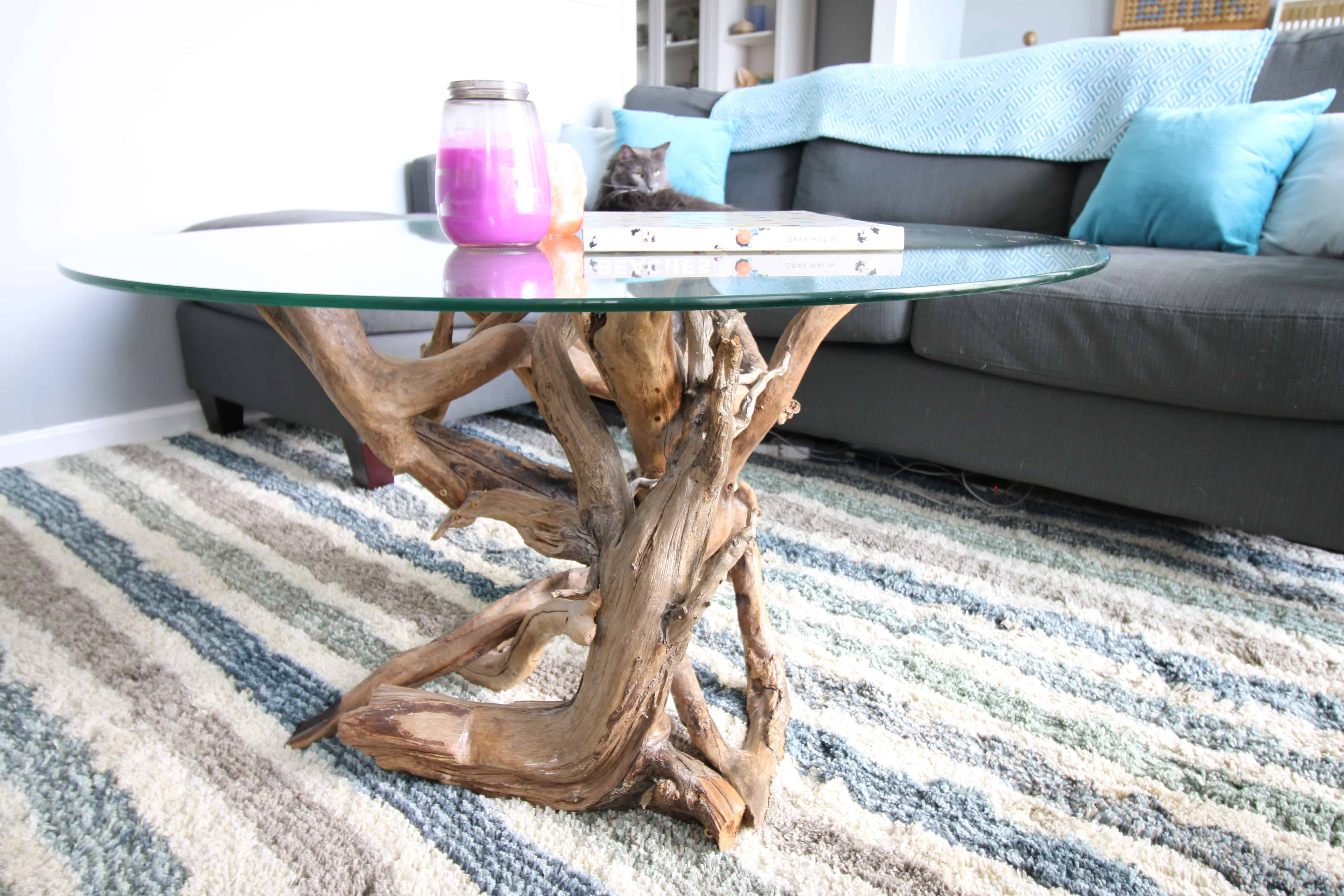 DIY Driftwood Coffee Table   Charleston Crafted