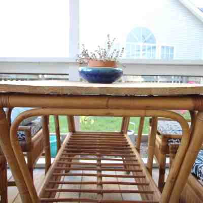 Can you use a wood top on an outside table?