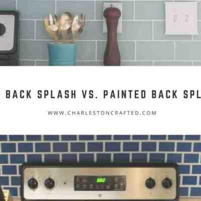 Tile Back Splash vs. Painted Back Splash