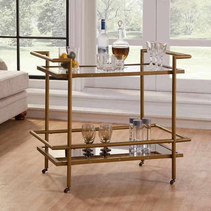 lyon bar cart Gorgeous Dining Room Furniture that you wouldn't believe came from COSTCO!