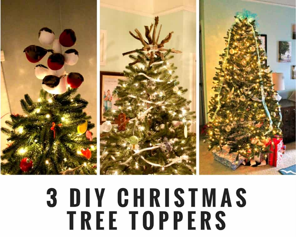 3 DIY Christmas Tree Toppers • Charleston Crafted