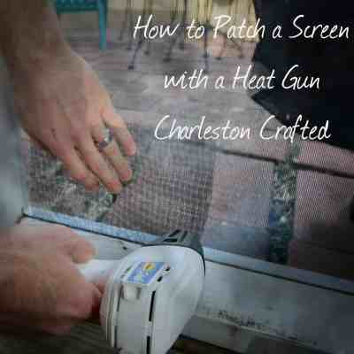 How to patch a screen with a heat gun