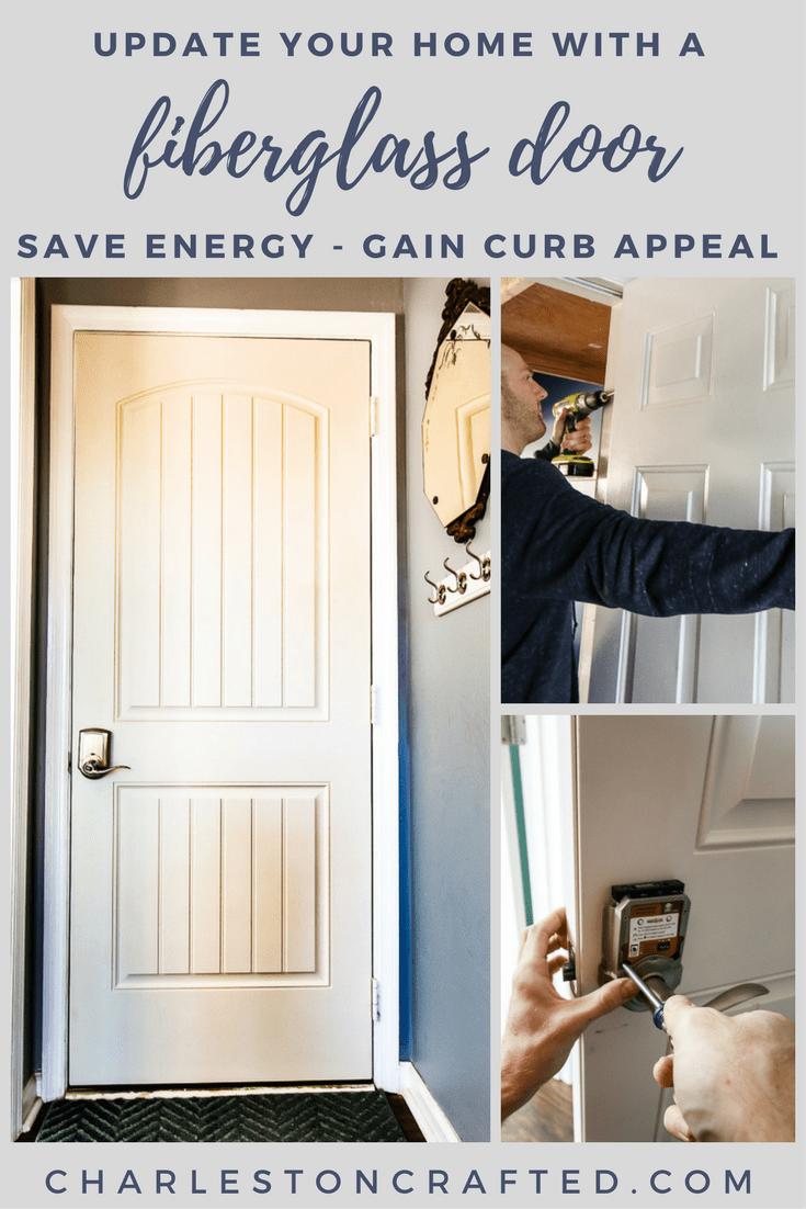 upgrade your home with a fiberglass door - Charleston Crafted & DIY Wooden Door Mat \u0026 Our New Therma-Tru Benchmark Door ...