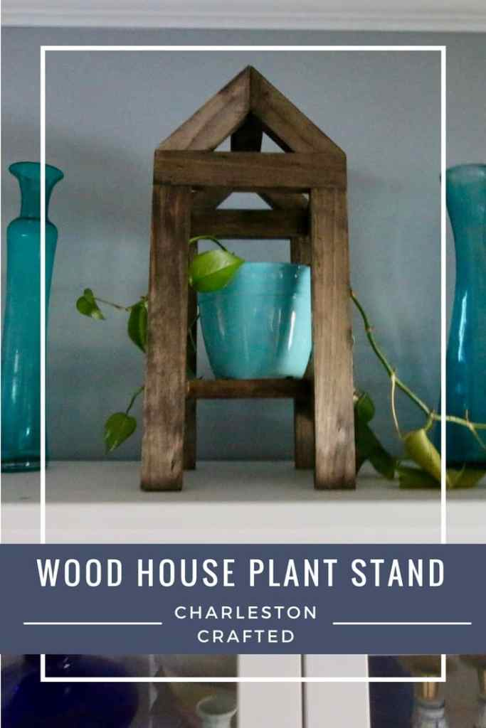 Wood House Plant Stand - Charleston Crafted