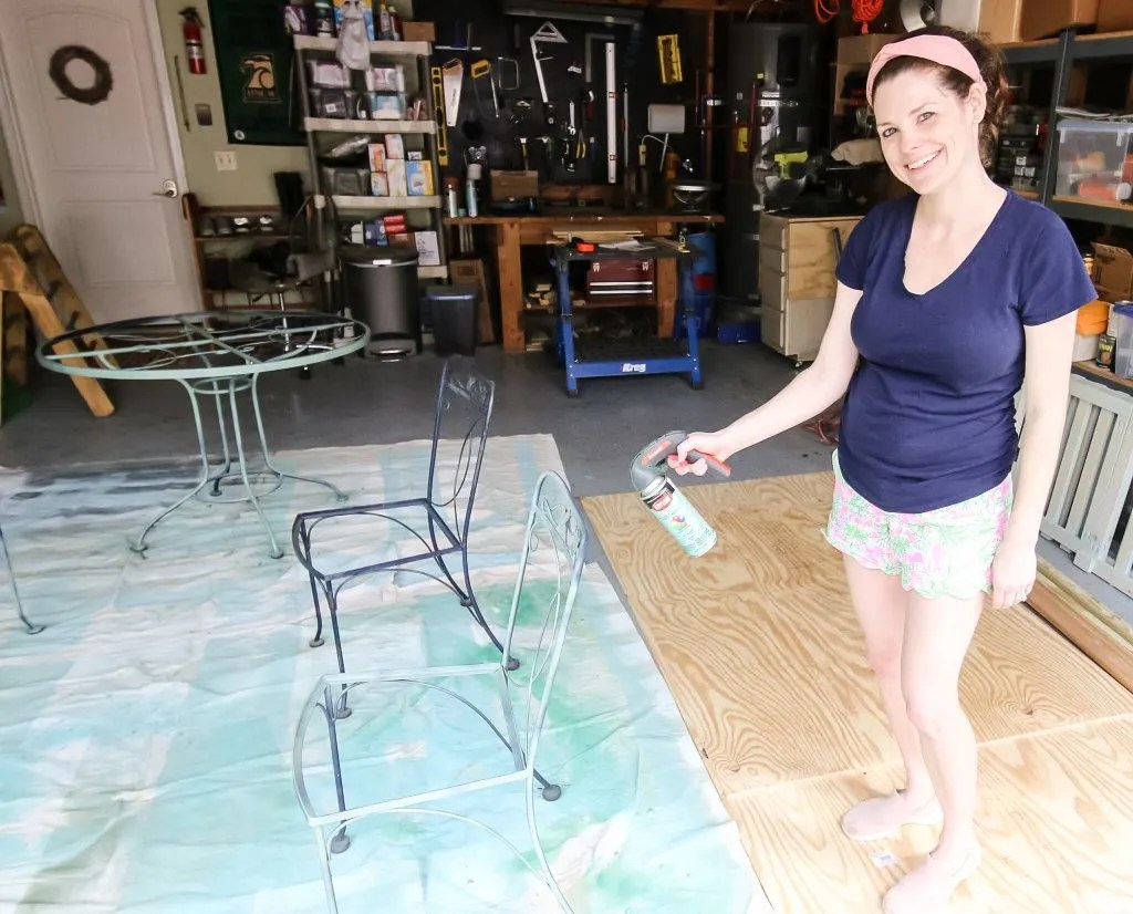 how to paint metal patio furniture