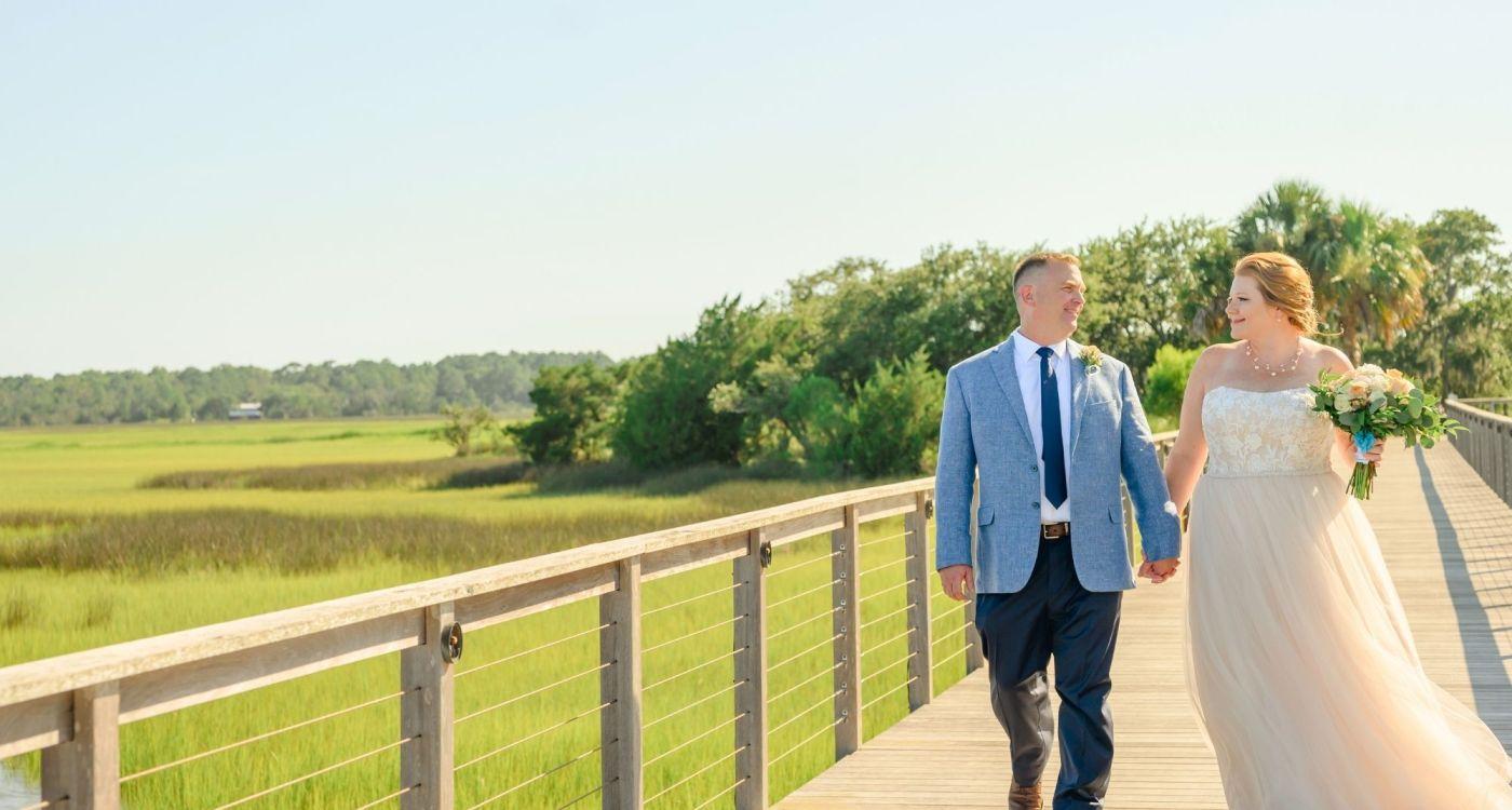 A Sunset Wedding on Board a Luxury Charter Yacht – The Carolina Girl