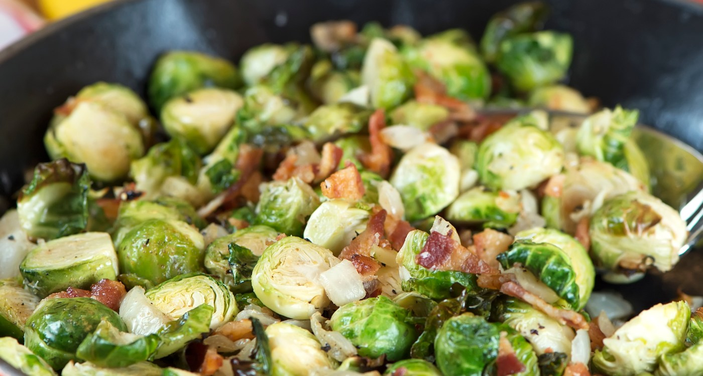 Stovetop Reveal: Bacon Brussels Sprouts