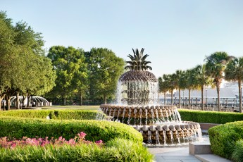 SPOT A LARGER THAN LIFE SIZED PINEAPPLE: Did you know the pineapple represents hospitality? Stroll to Waterfront Park and discover this iconic Charleston monument.