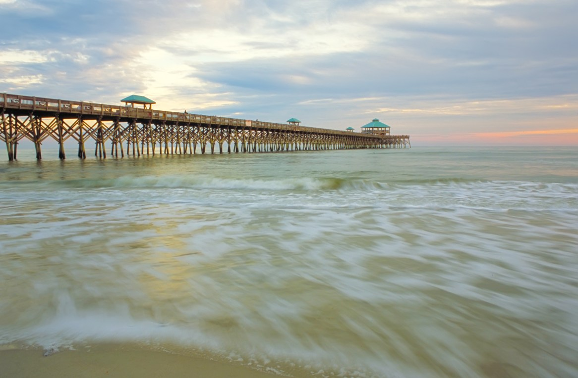 "THE FOLLY PIER, the self-proclaimed ""Edge of America."""