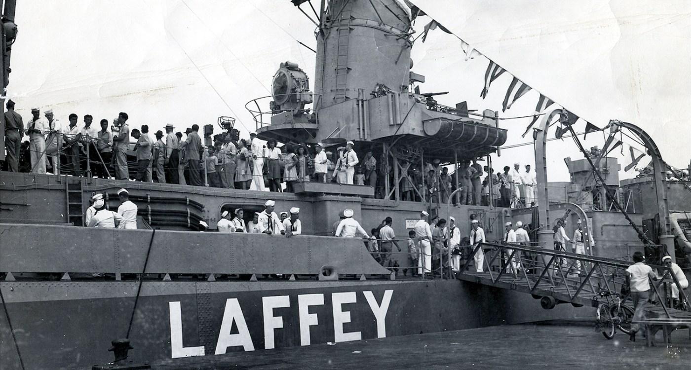 OCT 27, 1945 USS Laffey Navy Day at Pearl Harbor