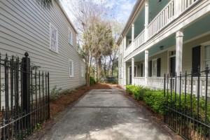 Back side of a Charleston Single House