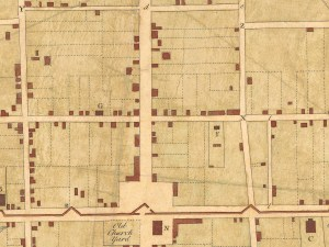 A 1739 map of Charles Town showing lot sizes
