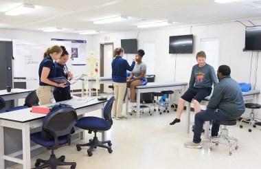 Inside the Athletic Training lab at CSU.