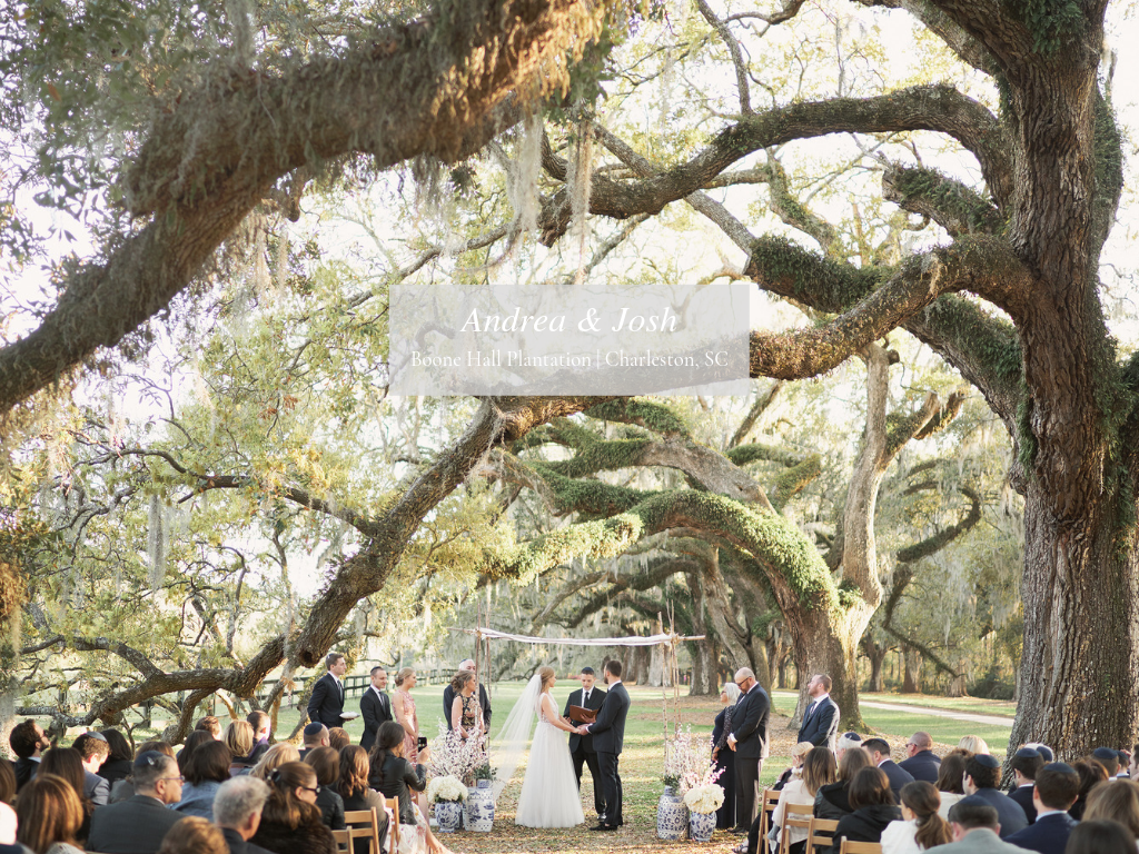 Andrea + Josh - Boone Hall Plantation
