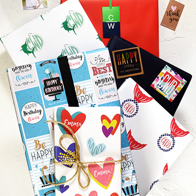 personalized wrapping paper part of the Charleston Wrap gift wrap collection