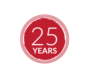 25 years icon