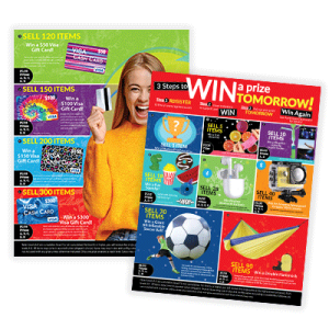 School fundraiser prizes