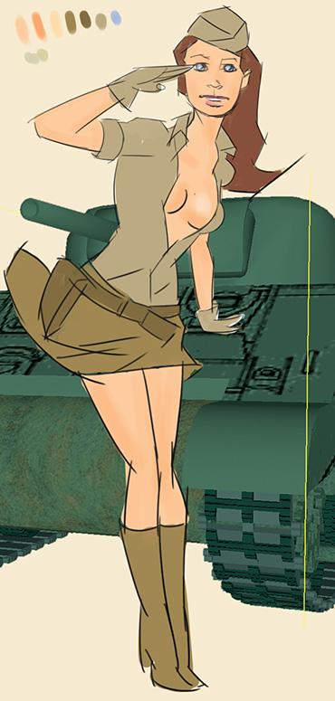 World of tanks poster sketch