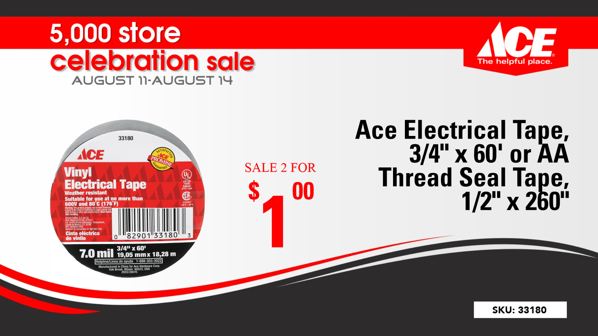 Come Celebrate Ace Hardware's 5000 Store Celebration With