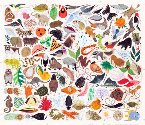 Tree of Life 500     Charley Harper Prints   For Sale