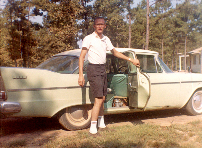 "The 57 Plymouth or ""Green Hornet"" was both fun and practical until the transmission fell out!"