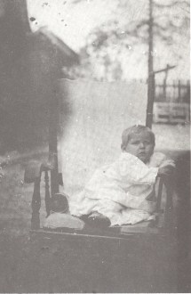 Baby Lloyd Everett Doggett, 1919, At or near Warren, Arkansas, Father, I was told that this is Lloyd Everett, but don't think it looks like the next baby photo. I'm not sure both of them are Dad! - LloydEDoggett-1919-A.jpg