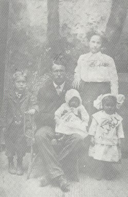 William Wesley Doggett Family, Circa 1910, Near Warren, Arkansas Grand Uncle & Grand Aunt with 1st cousins once removed, Wesley & Bessie Doggett with their first three children, Devoy, Allie Marie, and Maudie (L to R) WesleyDoggettFamily-1911-A.jpg