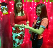 Her Mom Mayra surprises her with a school ring.