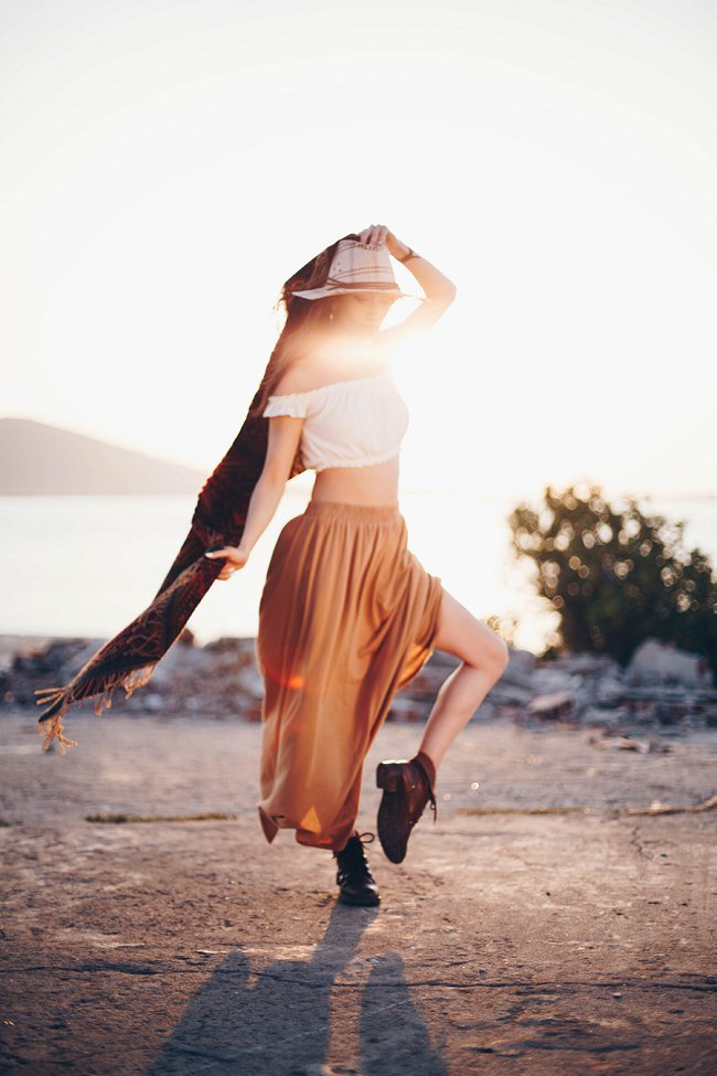 image of free spirited woman overcoming resistance to change