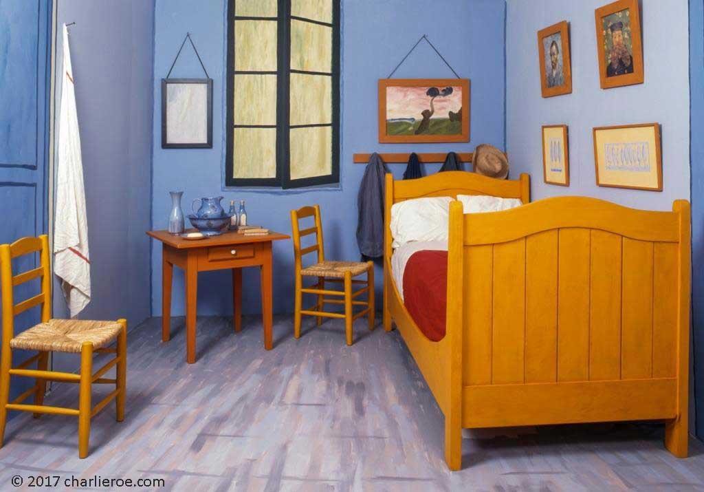 vincent van gogh's bedroom at arles painted furniture