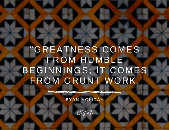 Music, Quotes & Coffee - picture of a quote by ryan holiday about greatness