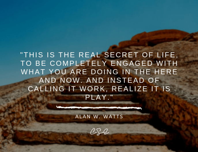 Music, Quotes & Coffee - picture of a quote by alan w. watts about the secret of life