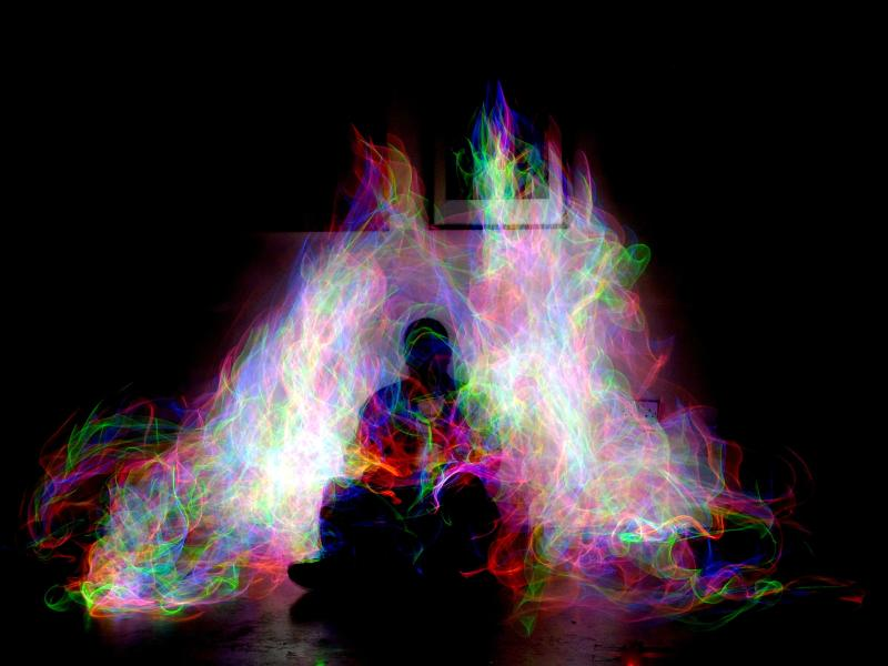 Technicolour Aura - Light Painting by Charlie Tyack