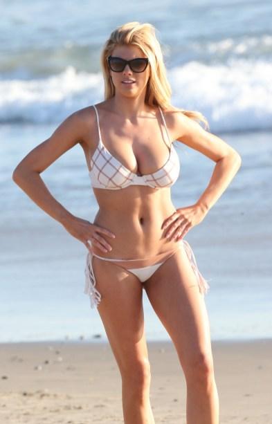 Charlotte McKinney Rehearses For Dancing With The Stars on Santa Monica beach - 02