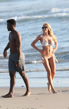 Charlotte McKinney Rehearses For Dancing With The Stars on Santa Monica beach - 07