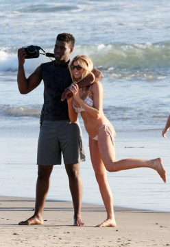 Charlotte McKinney Rehearses For Dancing With The Stars on Santa Monica beach - 08