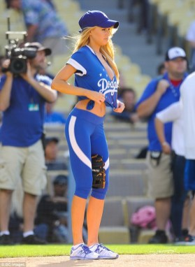 Charlotte McKinney - Dodgers Hollywood Stars softball - 03