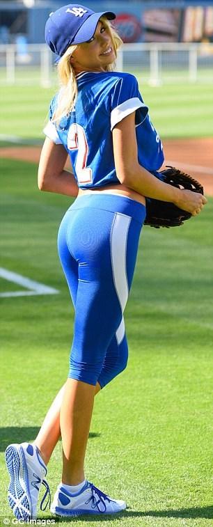 Charlotte McKinney - Dodgers Hollywood Stars softball - 07