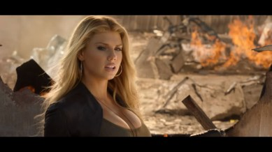 Charlotte McKinney on Carl's Jr. & Call of Duty Black Ops 3 Commercial - 08