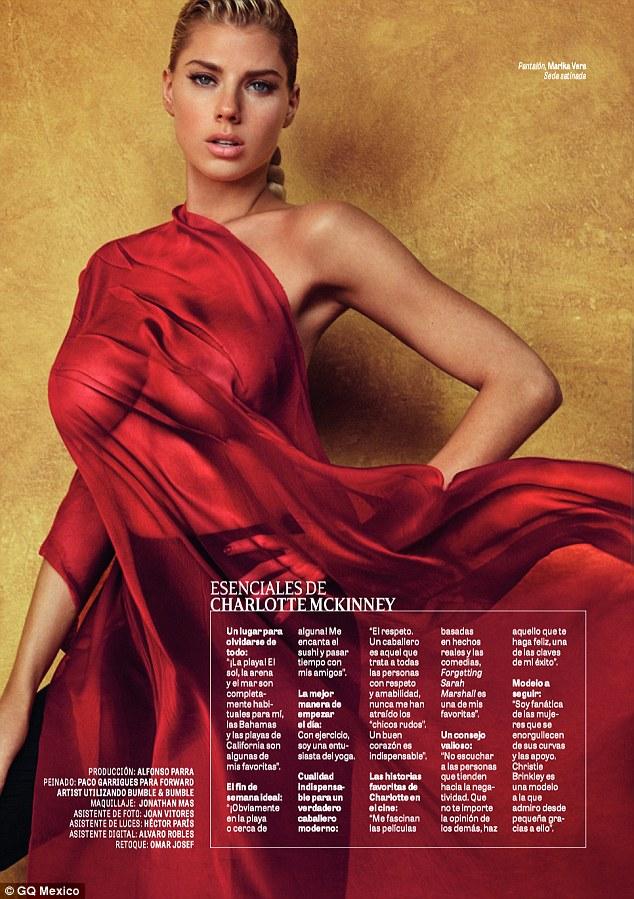 Charlotte McKinney - Cover GQ Mexico Magazine February 2016 - 07