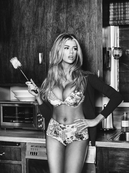 Charlotte McKinney for Guess Fall Line shot by Tatiana Gigi - 01