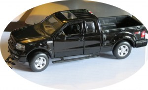 a scale model of the truck named Three, given to me by  a great friend and wonderful writer, Kobbie Alamo