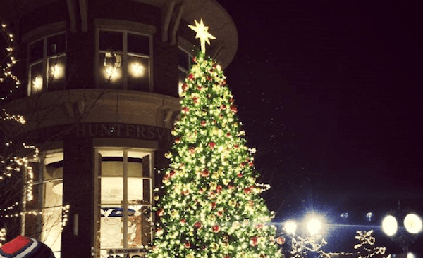 huntersville town center tree lighting
