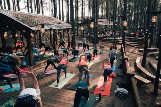 Free: Yoga at U S  National Whitewater Center - Charlotte On