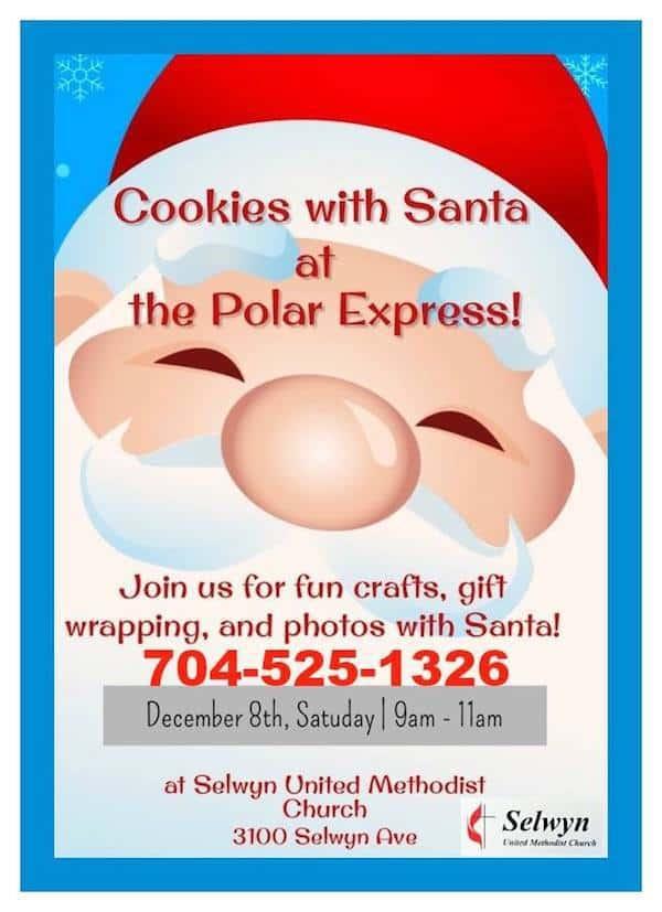 Cookies With Santa At Selwyn United Methodist Church Charlotte On