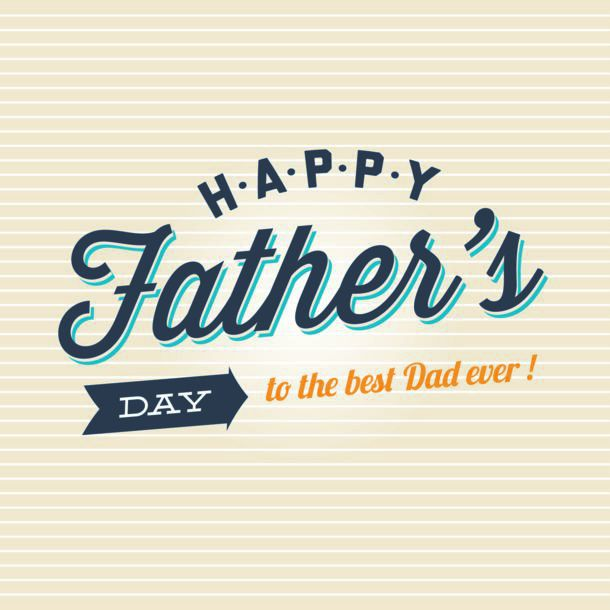 Fathers Day Card Logo Badge Signs And Symbol