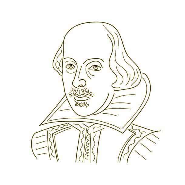 William Shakespeare Sketch Illustration Black And White William Shakespeare Sketch Illustration Black And White Vector