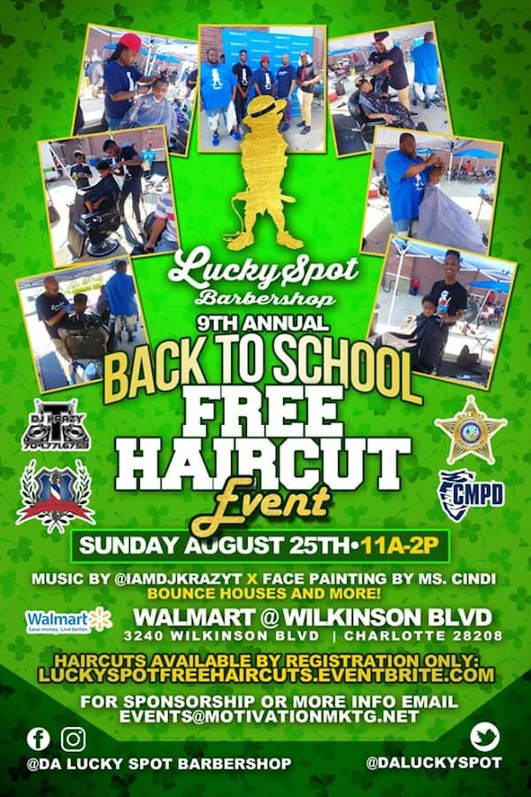 9th Annual Back to School Free Haircut Event with Lucky Spot