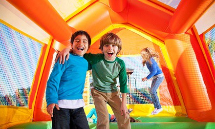 Open Bounce, Parents' Night Out, Kid's Camp, Party Attractions at BounceU (Up to 53% Off). 6 Options Available