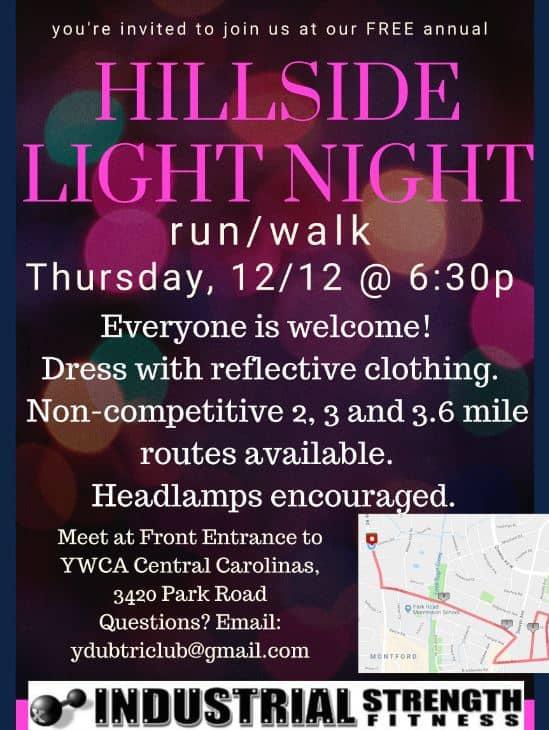 Hillside Light Night Run Walk With Ywca Central Carolinas